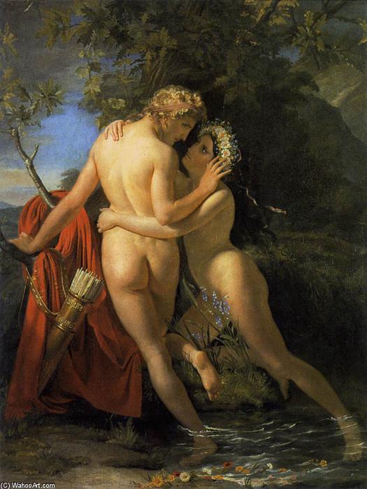 The Nymph Salmacis and Hermaphroditus, de François-Joseph Navez
