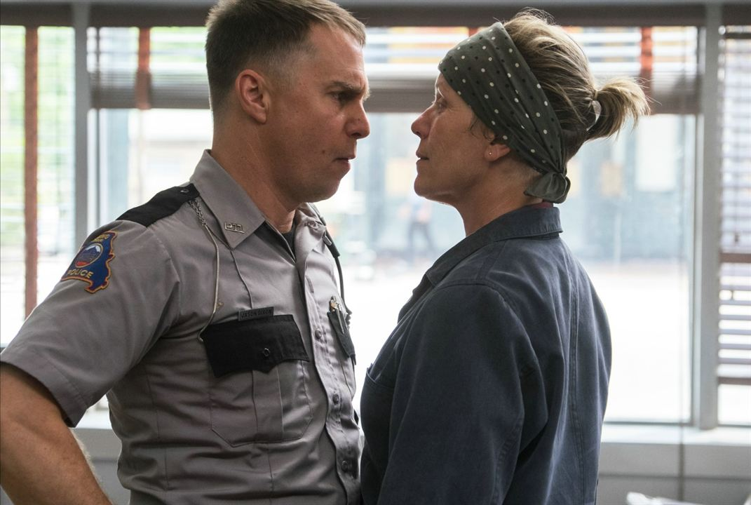 3 Billboards, Les Panneaux de la vengeance : Photo Frances McDormand, Sam Rockwell