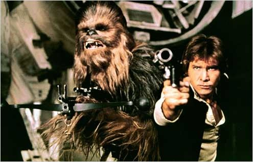 Star Wars : Episode IV - Un nouvel espoir (La Guerre des étoiles) : Photo Harrison Ford, Peter Mayhew