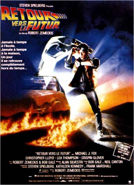 Retour vers le futur : Affiche Michael J. Fox, Robert Zemeckis