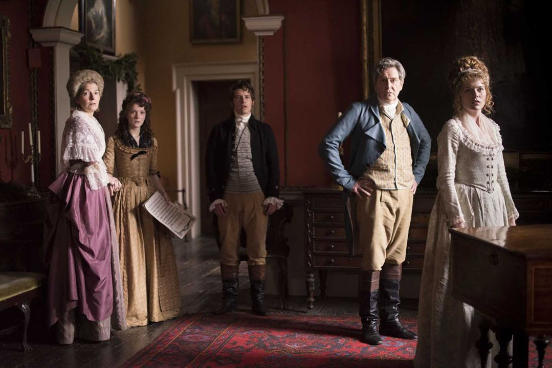 Love & Friendship : Photo Emma Greenwell, James Fleet, Jemma Redgrave, Morfydd Clark, Xavier Samuel