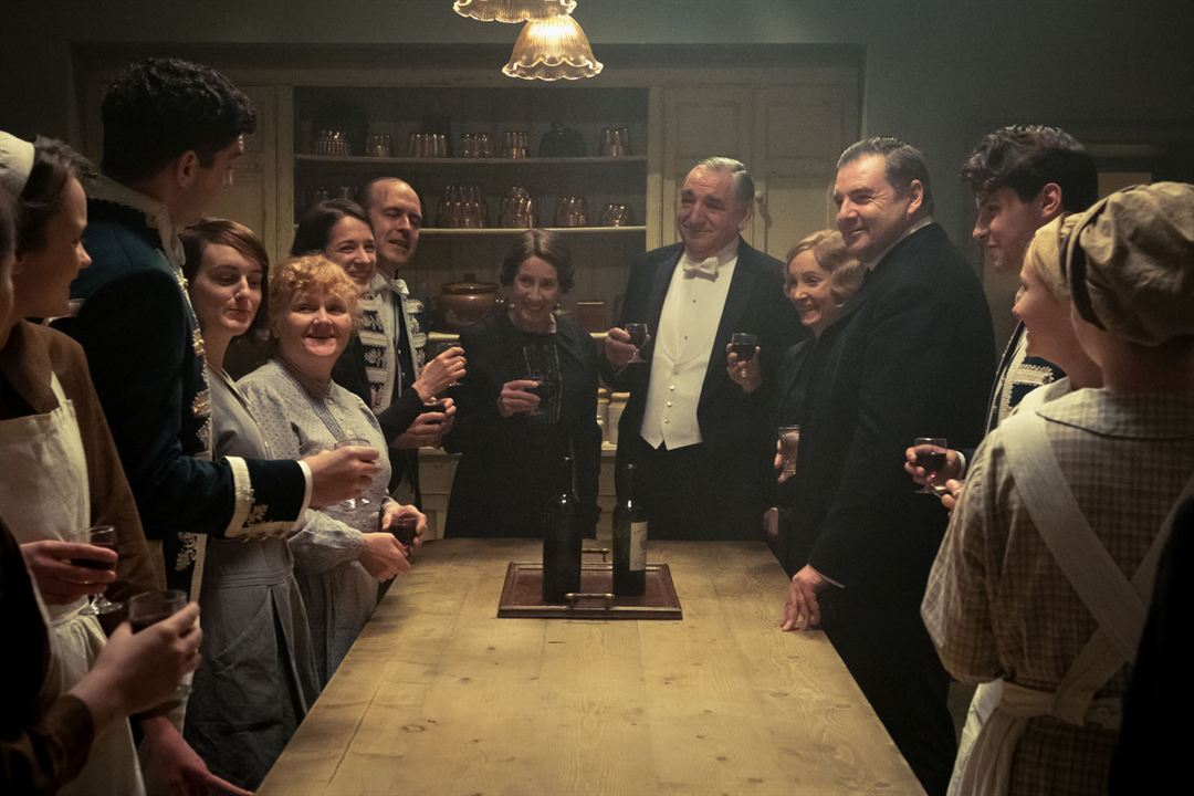 Downton Abbey : Photo Jim Carter, Joanne Froggatt, Lesley Nicol, Sophie McShera