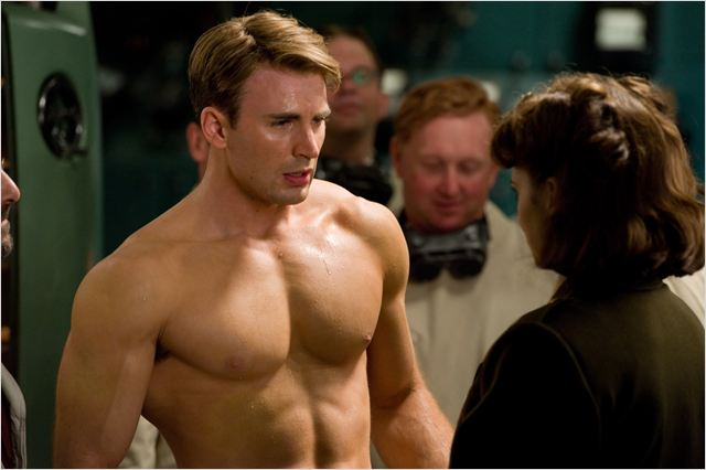Captain America : First Avenger : Photo Chris Evans, Joe Johnston