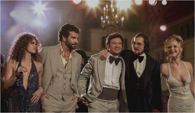 American Bluff : Photo Amy Adams, Bradley Cooper, Christian Bale, Jennifer Lawrence, Jeremy Renner