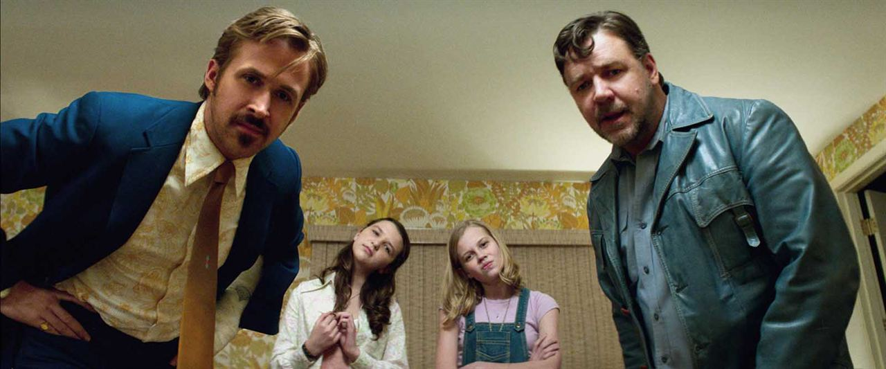 The Nice Guys : Photo Angourie Rice, Russell Crowe, Ryan Gosling