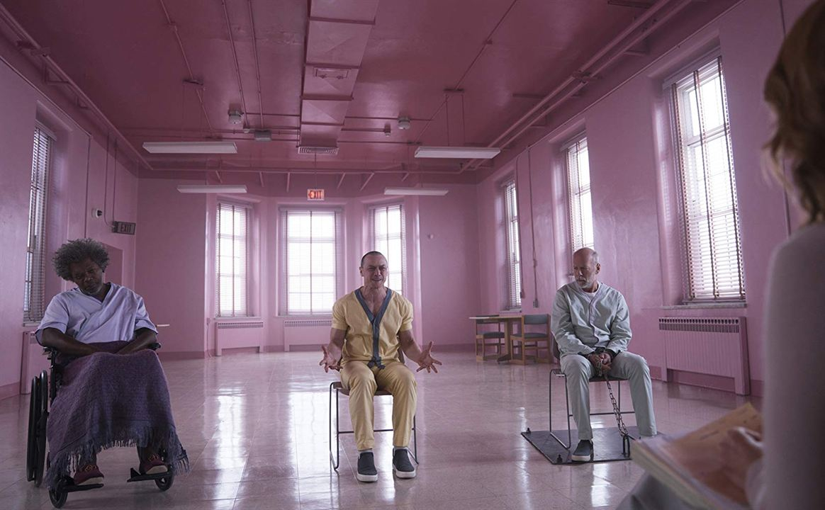 Glass : Photo Bruce Willis, James McAvoy, Samuel L. Jackson