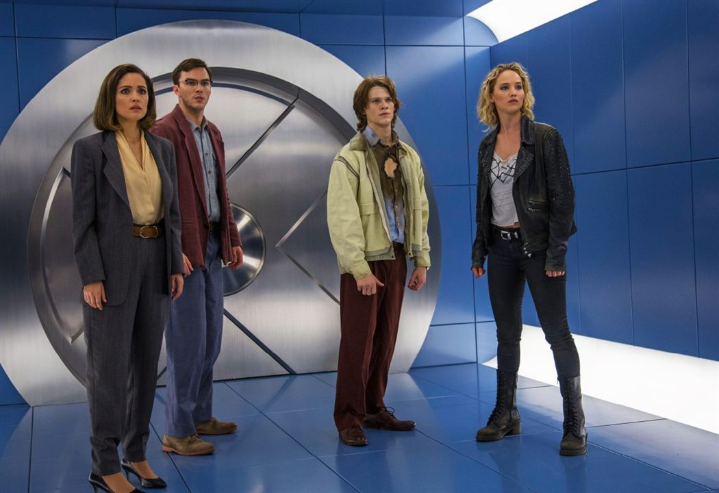 X-Men: Apocalypse : Photo Jennifer Lawrence, Lucas Till, Nicholas Hoult, Rose Byrne