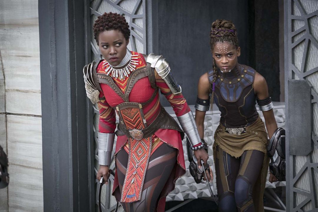 Black Panther : Photo Letitia Wright, Lupita Nyong'o