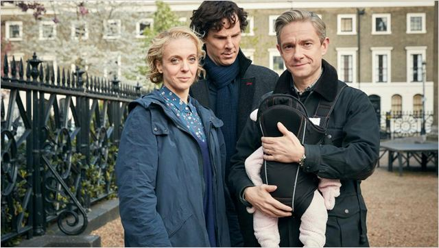 Photo Amanda Abbington, Benedict Cumberbatch, Martin Freeman