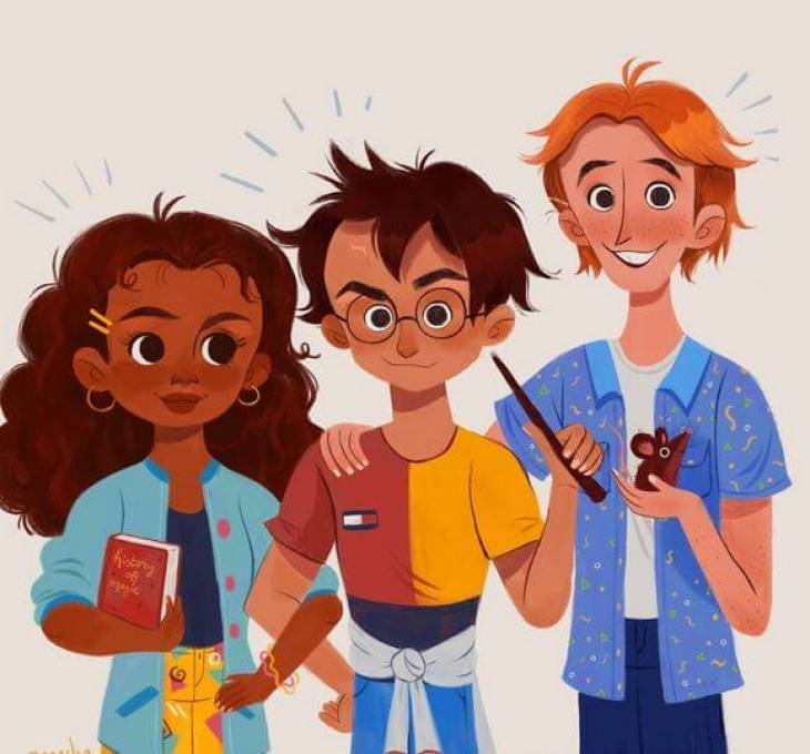 hermione and harry / Twitter