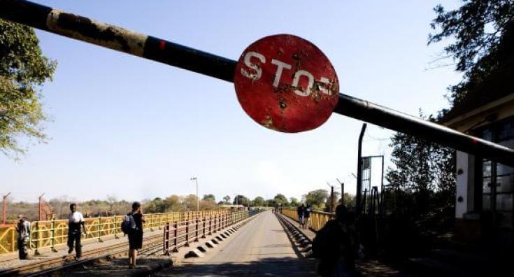 Poste frontière entre la Zambie et le Zimbabwe