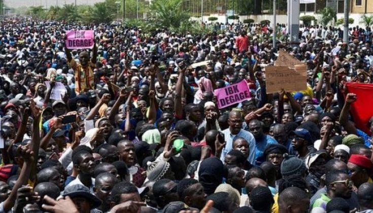 Des manifestants à Bamako.