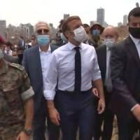 Explosion à Beyrouth: Emmanuel Macron est au Liban