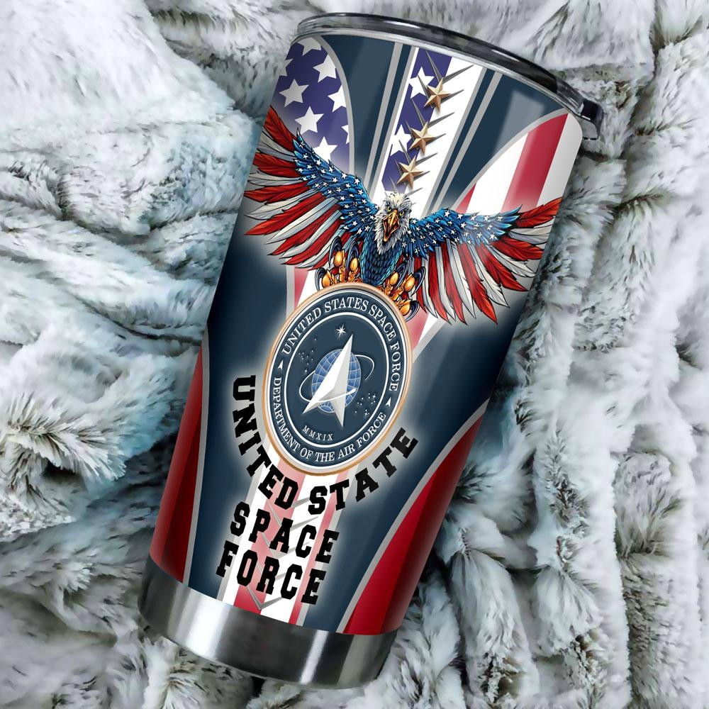 89fashion United States Space Force Tumbler Stainless Size 20 Oz Drinkwater & Tumbler