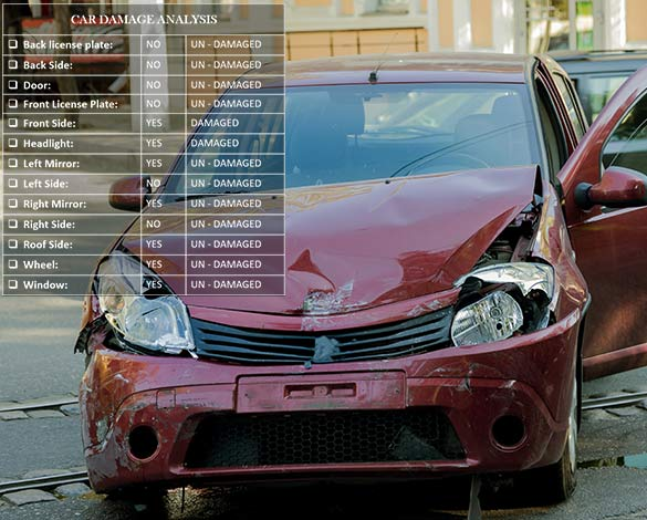 Can insurers inspect damaged car parts using only image data?