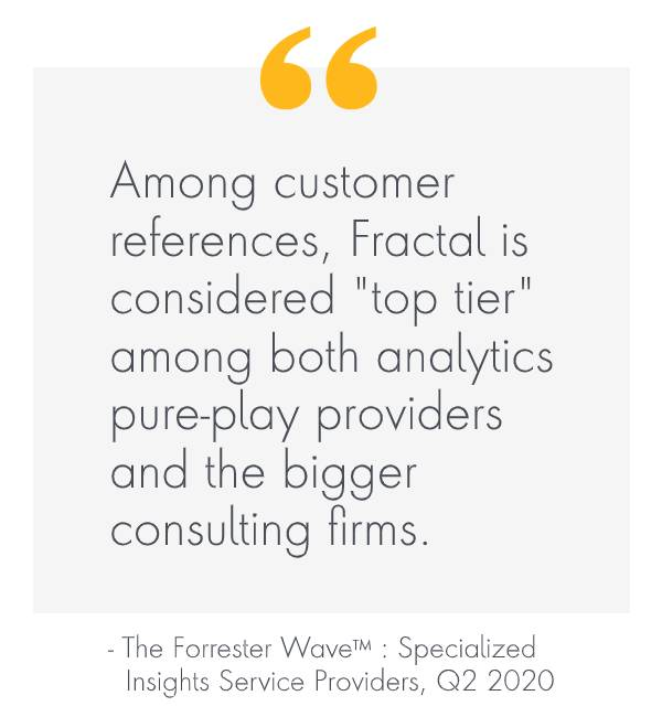 "Fractal named as a ""Leader"" in the Forrester Wave™ : Specialized Insights Service Providers, Q2 2020"
