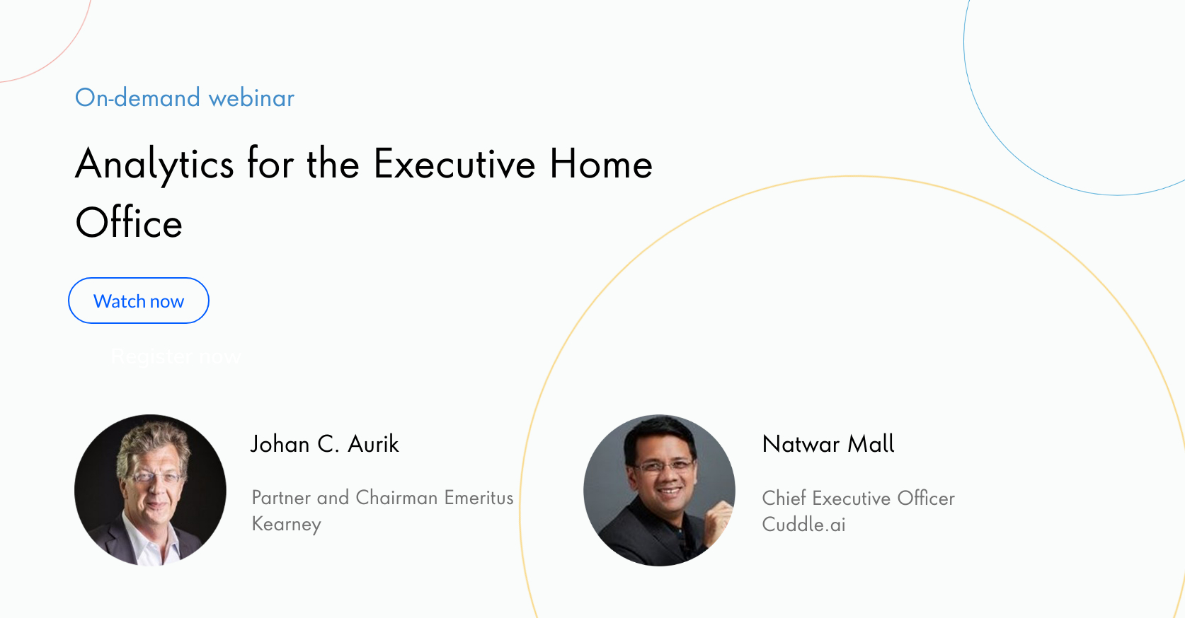 Analytics for the Executive Home Office