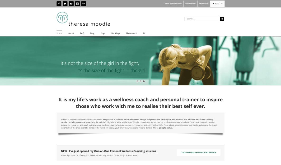 Theresa Moodie Health Wellness Website Marketing by Fractal Marketing