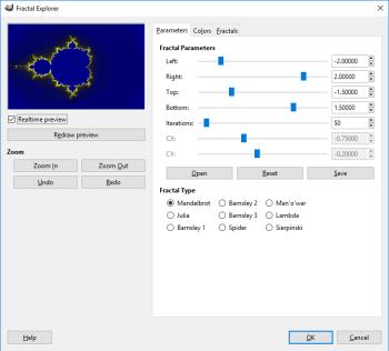 GIMP's Fractal Explorer