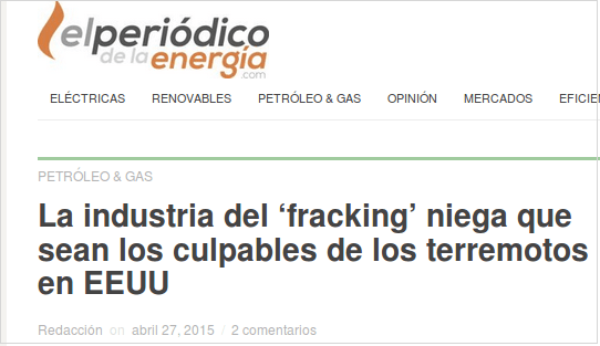 shale gas no terremotos