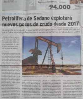 Noticia La Lora Fracking
