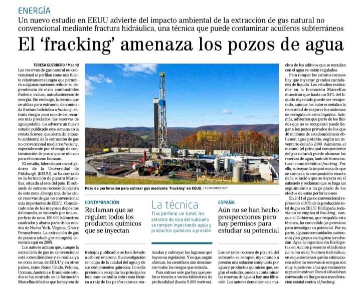 Fracking contamina acuiferos