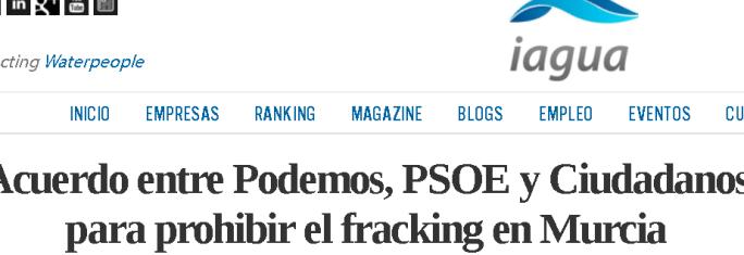 ciudadanos fracking Murcia