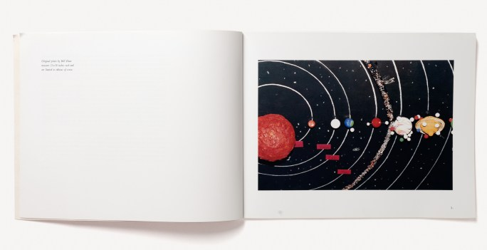 Open book of color photographs