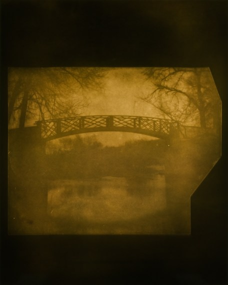 The China Bridge over the River Avon at Lacock Abbey, April 3, 1840, 2009, toned gelatin-silver print