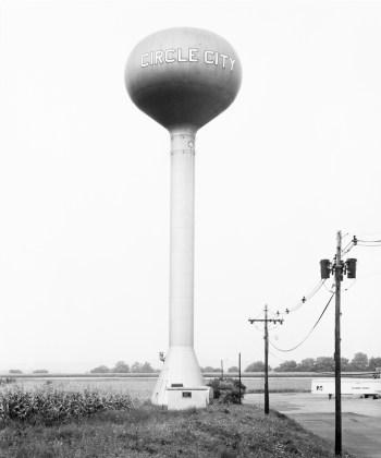 Water Tower, Circle City, New Jersey, U.S.A. , 1974, gelatin-silver print