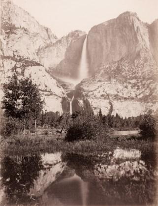 Yosemite Falls, 2634 ft., 1865-66, mammoth-plate albumen print