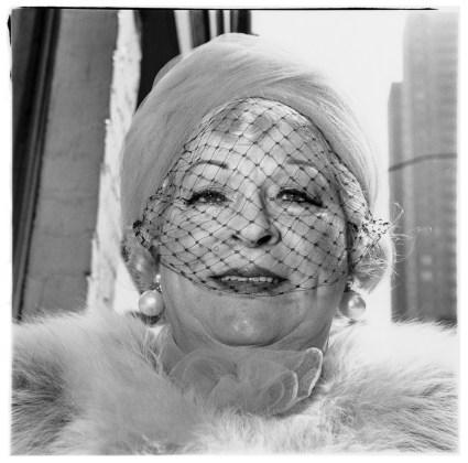 Woman with a veil on Fifth Avenue, N.Y.C. 1968, gelatin-silver print