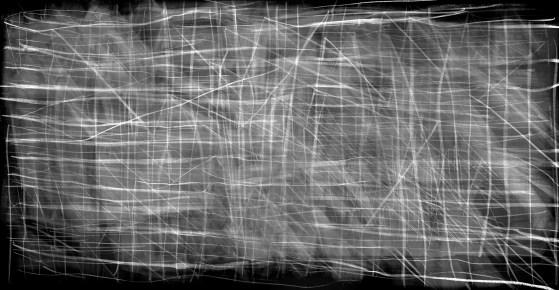 After Duchamp's 16 Miles of String, 2012, digital silver-bromide print