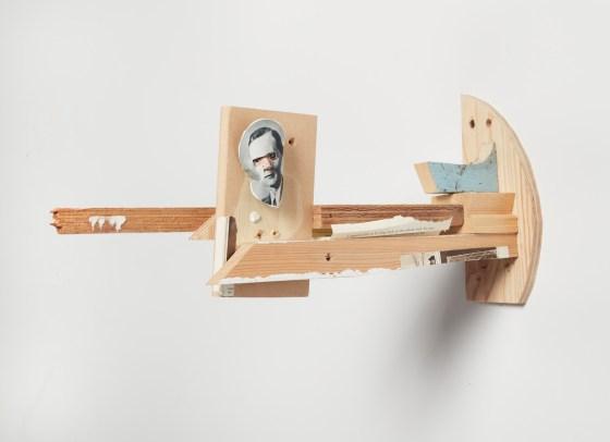 Janus, 2016, mixed unique media sculpture
