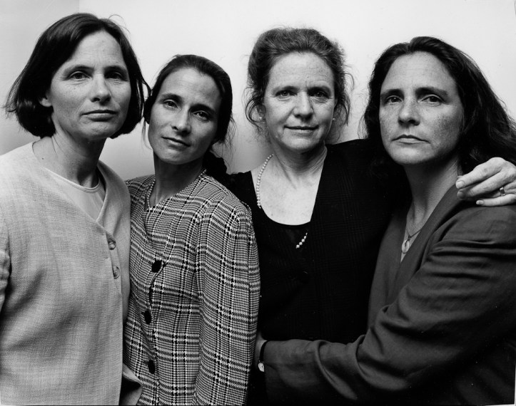 The Brown Sisters, Wellesley Hills, Massachusetts, 1997, gelatin-silver contact print