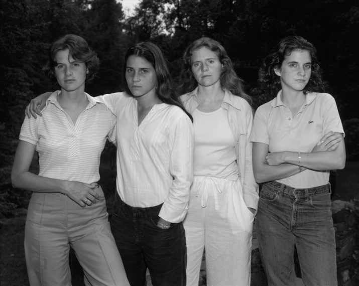 The Brown Sisters, 1975, gelatin-silver contact print