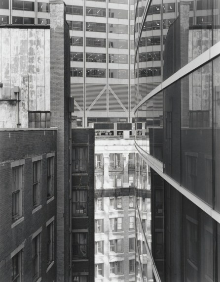 NICHOLAS NIXON, View of Arch Street, Boston, 2008, gelatin-silver contact print