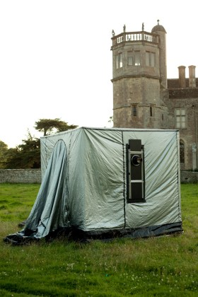 Richard Learoyd's portable camera at Lacock Abbey.