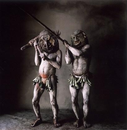Two Asaro Mudmen (B), New Guinea, 1970, pigment print