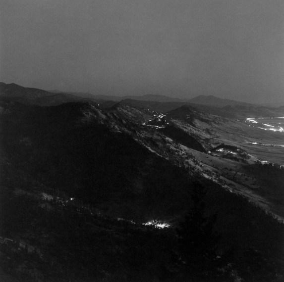 North from Flagstaff Mountain, Boulder County, Colorado, ca. 1981, gelatin-silver print