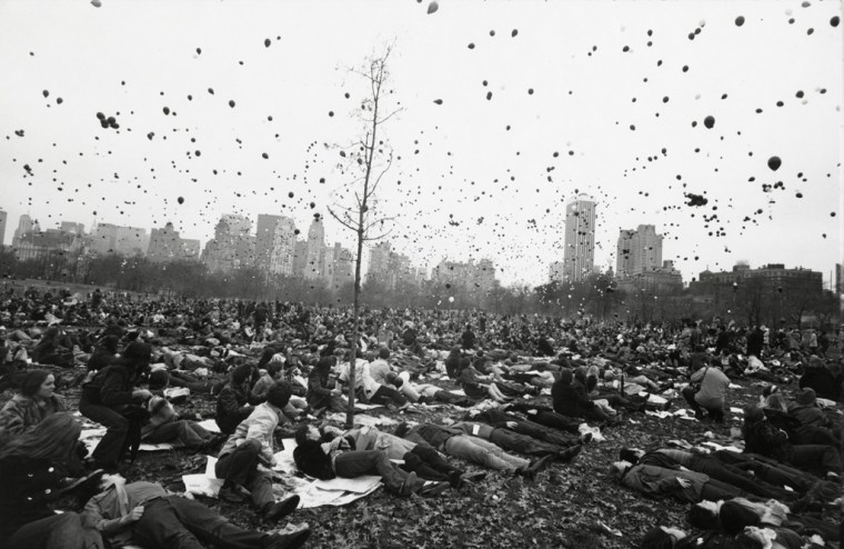 Peace Demonstration, Central Park, New York, 1970, gelatin-silver print