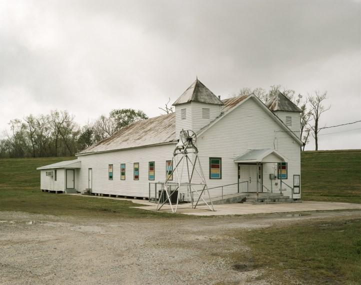 Baptist Church, River Road, St. James, Louisiana, 1998, pigment print