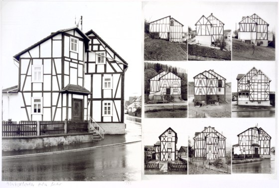Fachwerkhauser (Timbered Houses), 1973, two gelatin-silver prints mounted together