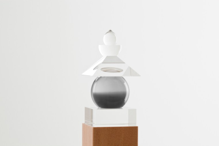 Five Elements, 2011,  Mediterranean Sea, La Ciotat, 1989, optically clear glass, black and white film, housed in a wooden box