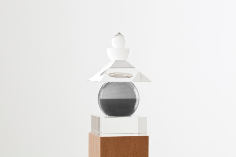 Five Elements, 2011,  Irish Sea, Isle of Man, 1990, optically clear glass, black and white film, housed in a wooden box
