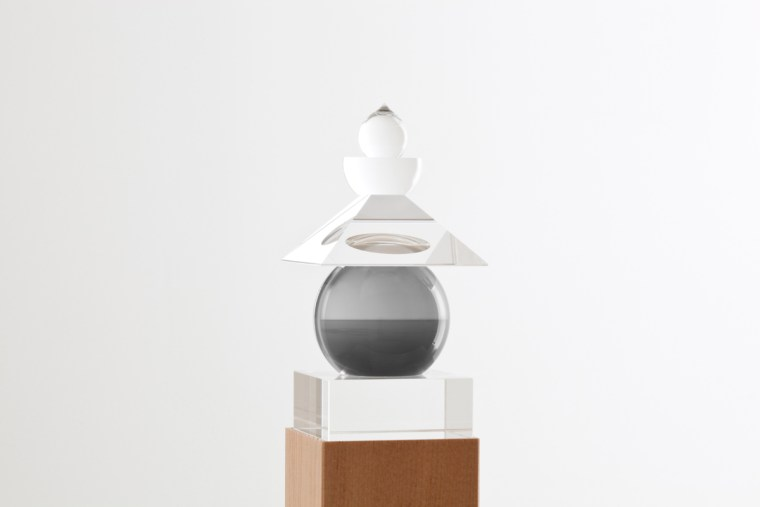 Five Elements, 2011,  English Channel, Weston Cliff,1994, optically clear glass, black and white film, housed in a wooden box