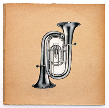 Double Tuba, 1992, collage (photocopies collaged on board)