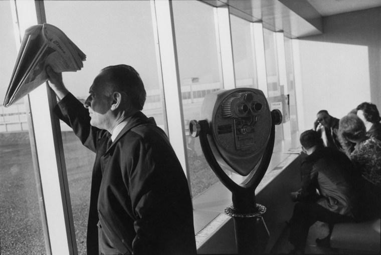 Los Angeles Airport, 1967, gelatin-silver print