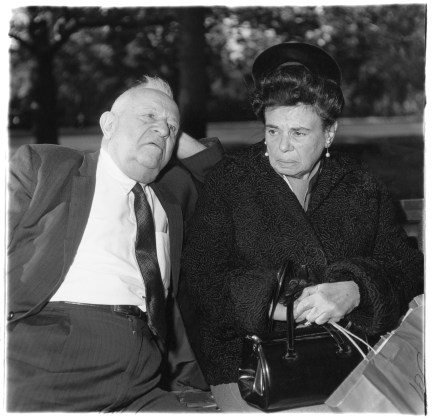 Elderly couple on a park bench, N.Y.C. 1969
