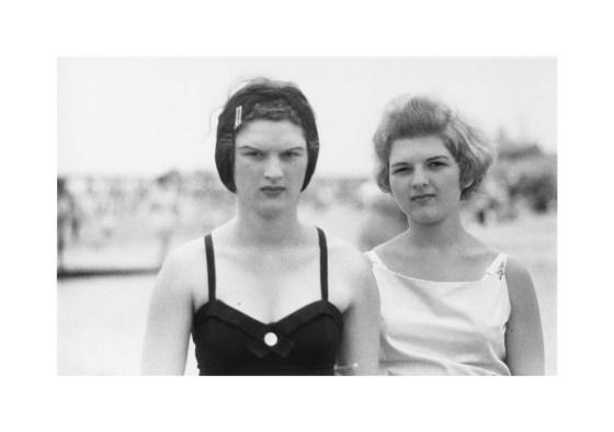 Two girls on the beach, Coney Island, N.Y. 1958